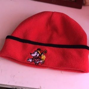 A Minnie Mouse winter hat